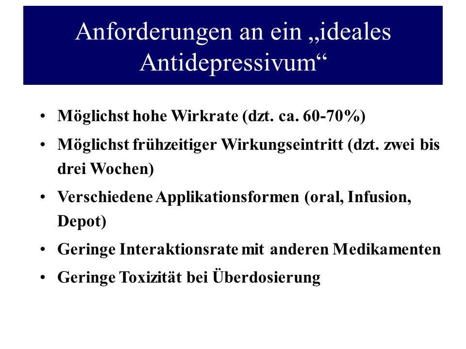 """Anforderungen an ein """"ideales Antidepressivum"""