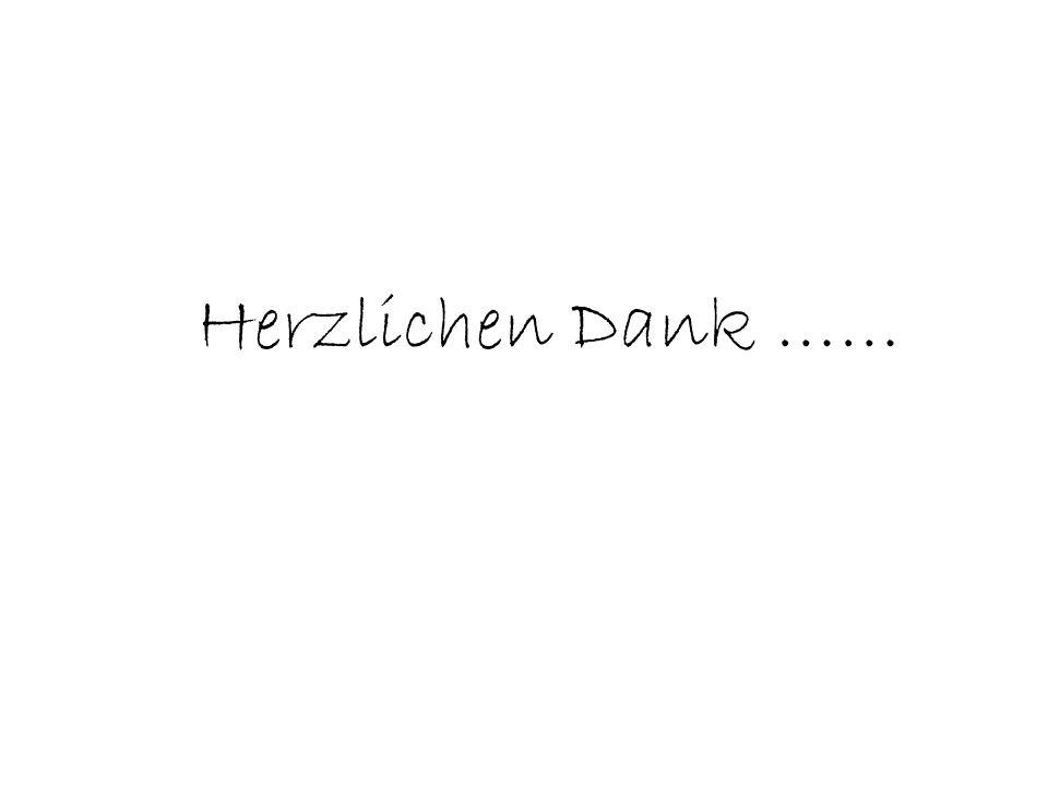 Herzlichen Dank ……
