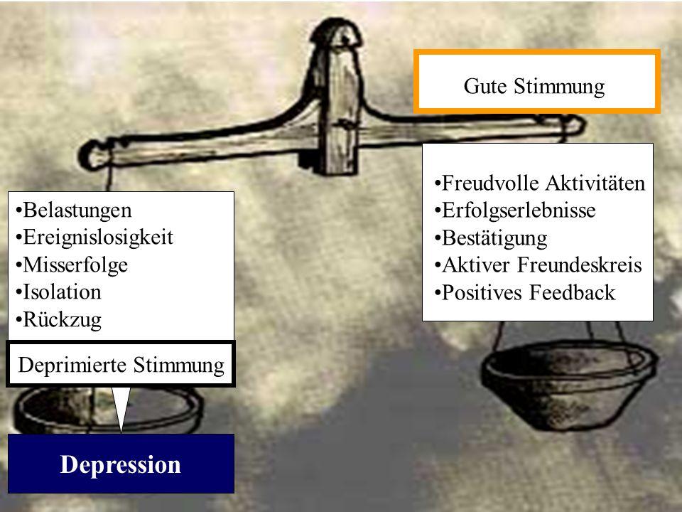 Depression Gute Stimmung Freudvolle Aktivitäten Erfolgserlebnisse