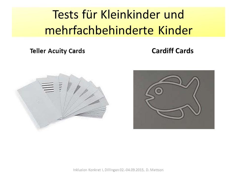 Tests für Kleinkinder und mehrfachbehinderte Kinder