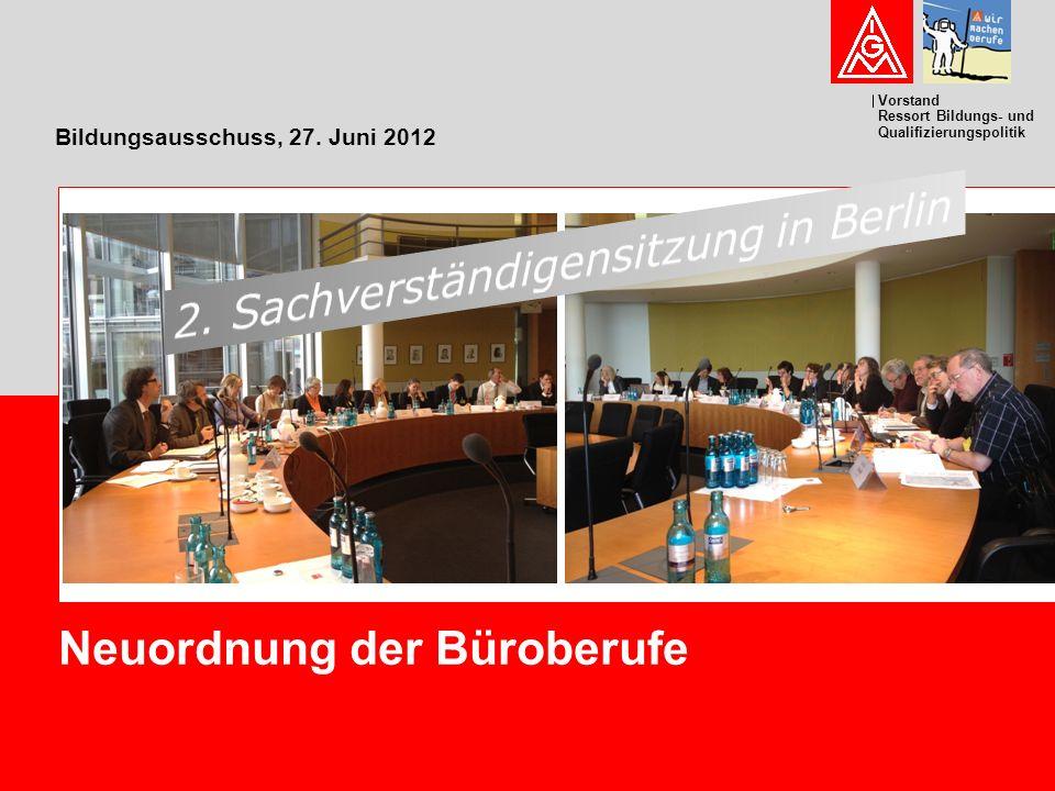 Bildungsausschuss, 27. Juni 2012