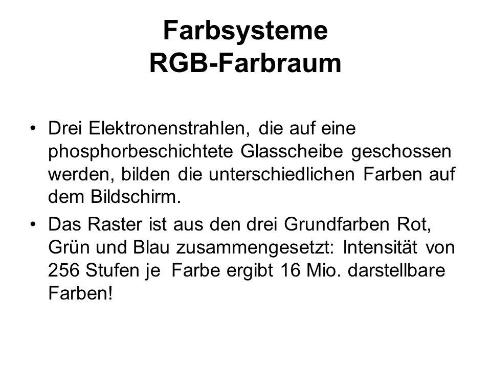 Farbsysteme RGB-Farbraum