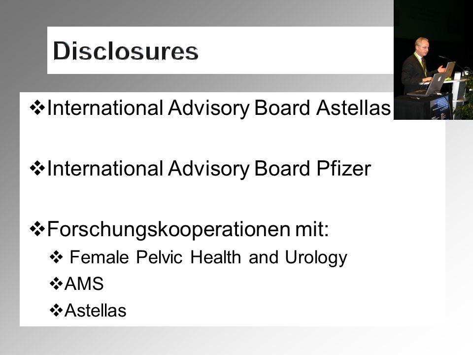 Disclosures International Advisory Board Astellas