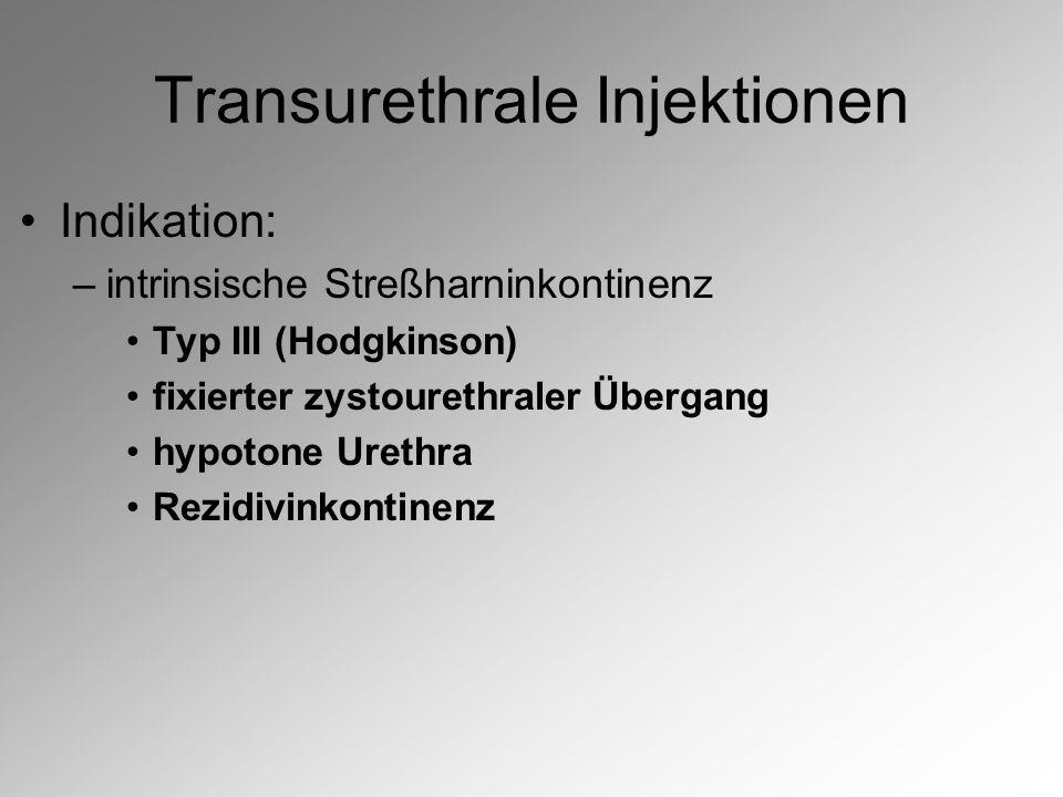 Transurethrale Injektionen