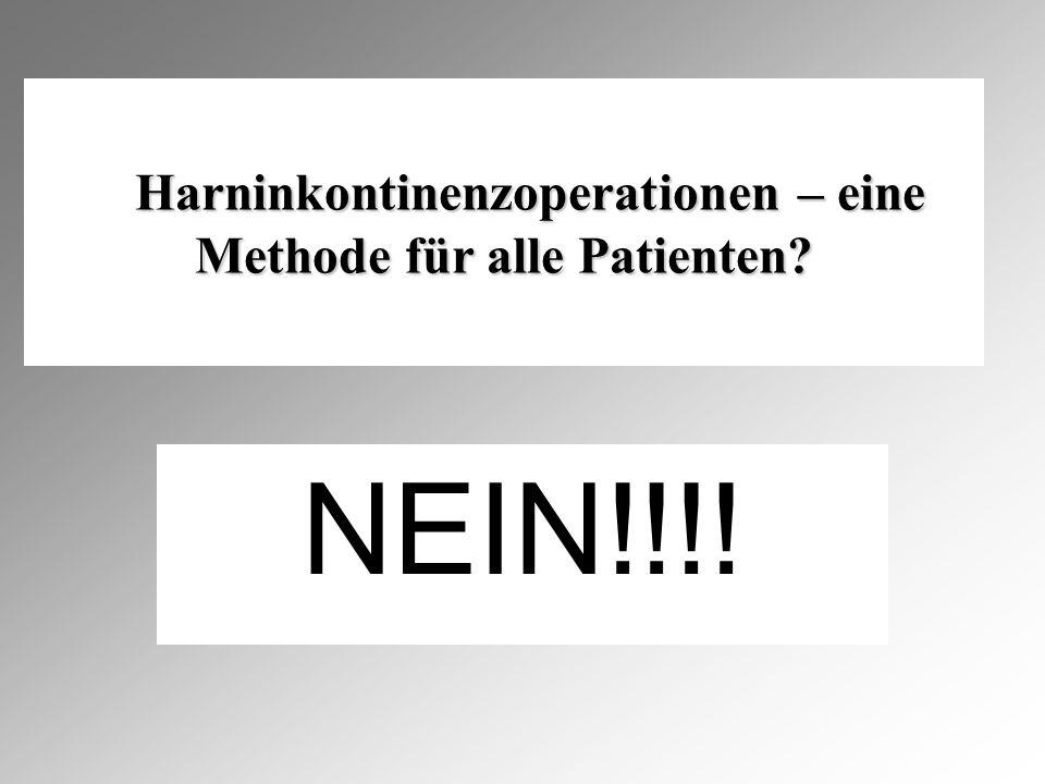 Harninkontinenzoperationen – eine Methode für alle Patienten