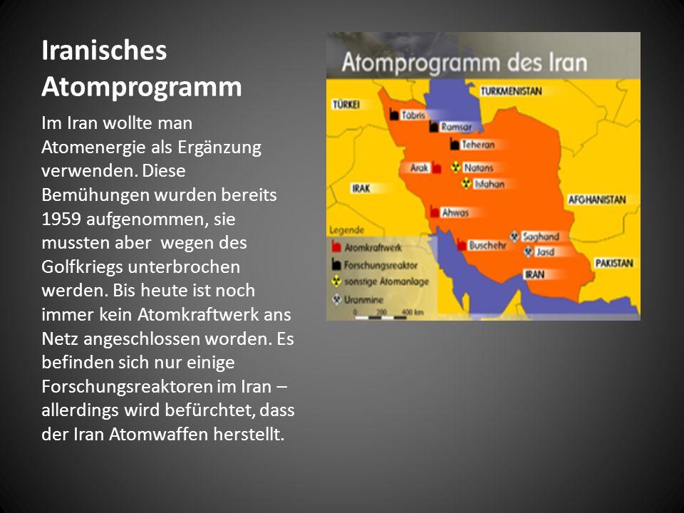 Iranisches Atomprogramm