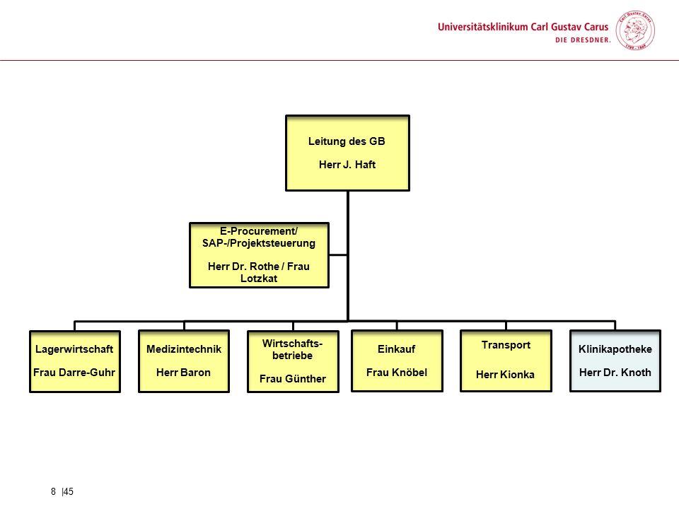 Herr Dr. Rothe / Frau Lotzkat SAP-/Projektsteuerung E-Procurement/