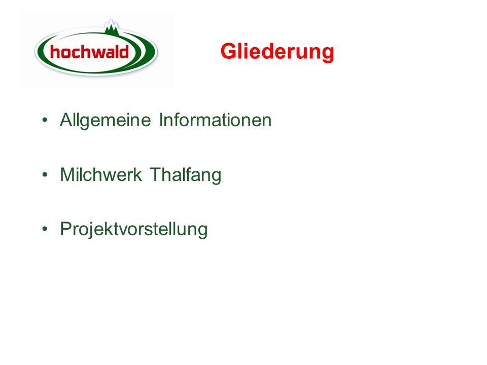 Gliederung Allgemeine Informationen Milchwerk Thalfang