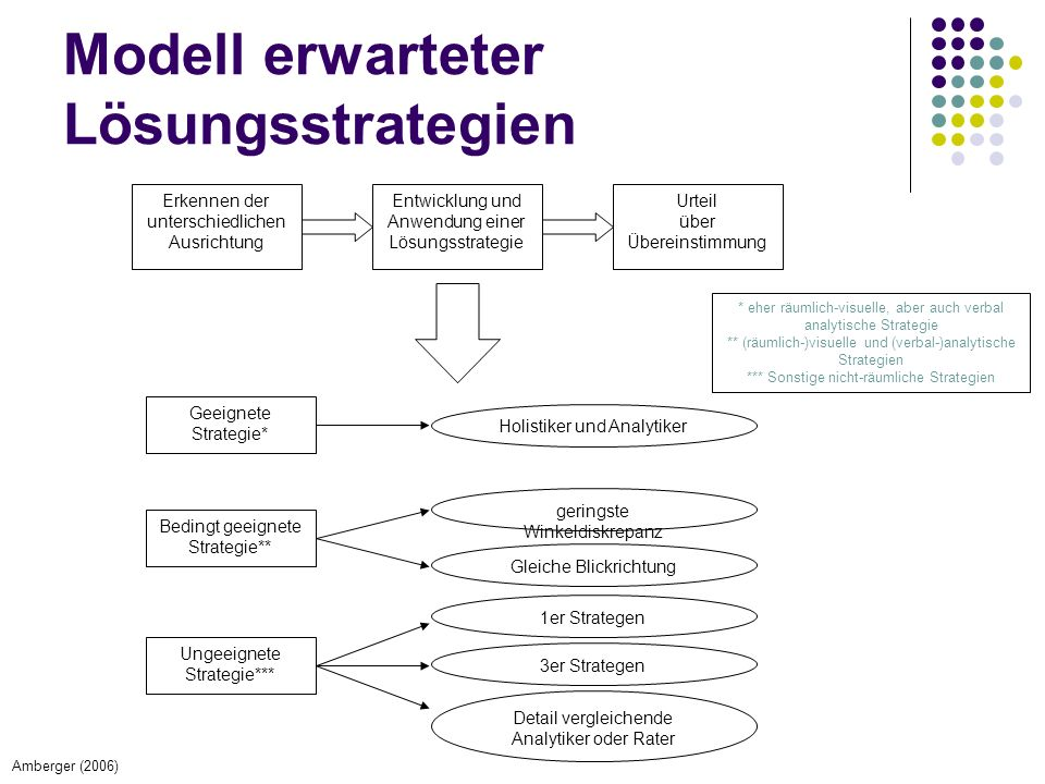 Modell erwarteter Lösungsstrategien