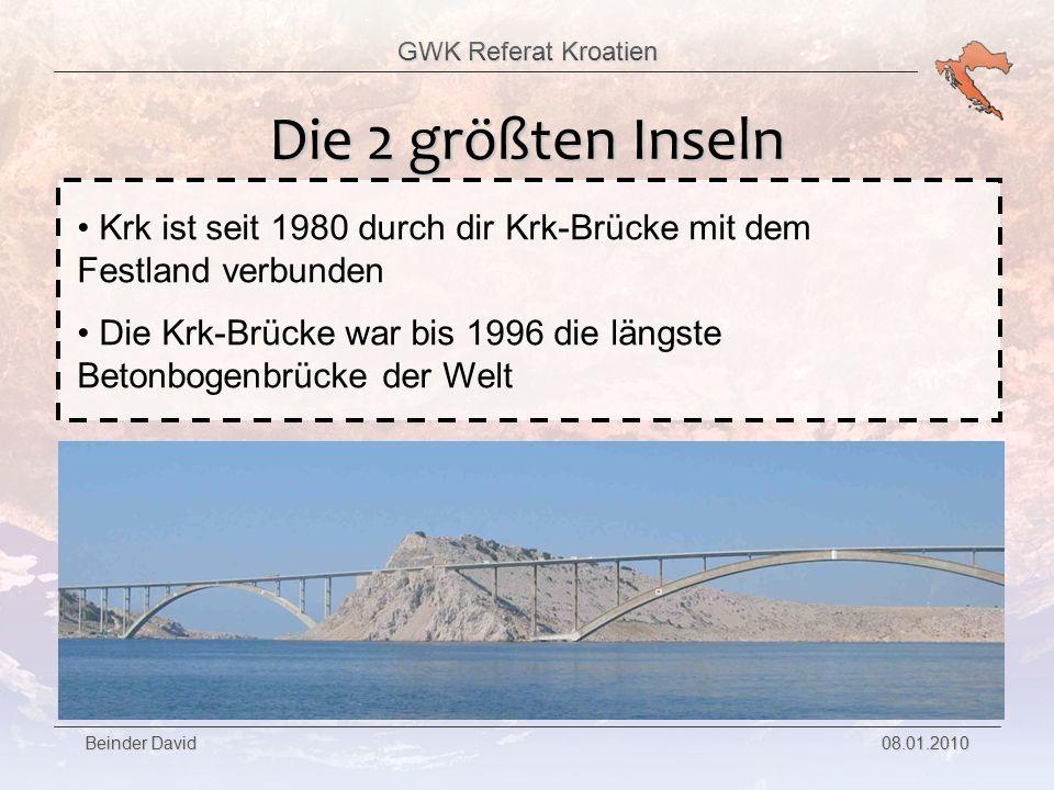 Die 2 größten Inseln Krk ist seit 1980 durch dir Krk-Brücke mit dem Festland verbunden.