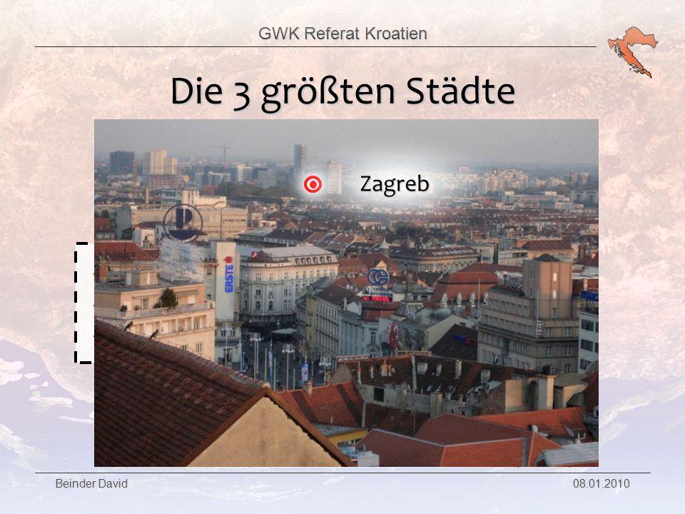 Die 3 größten Städte Zagreb Hauptstadt Kroatiens