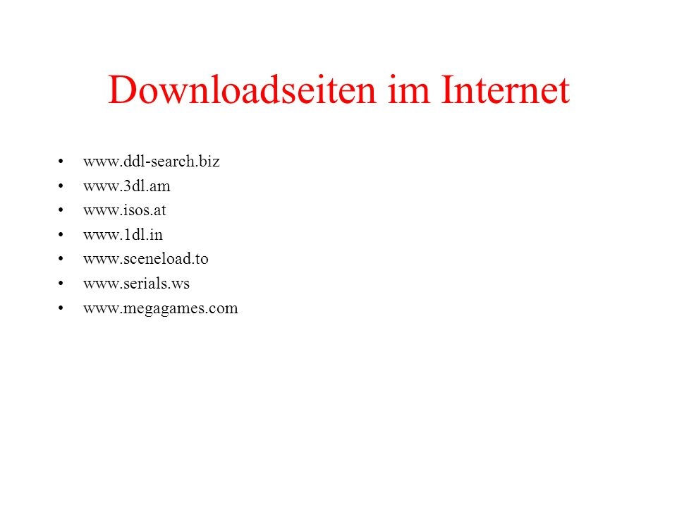 Downloadseiten im Internet