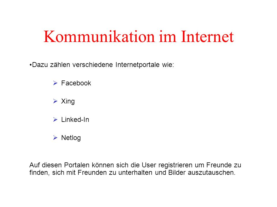 Kommunikation im Internet
