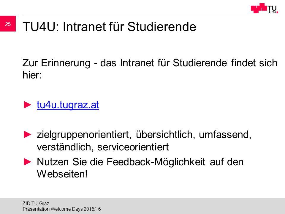 TU4U: Intranet für Studierende