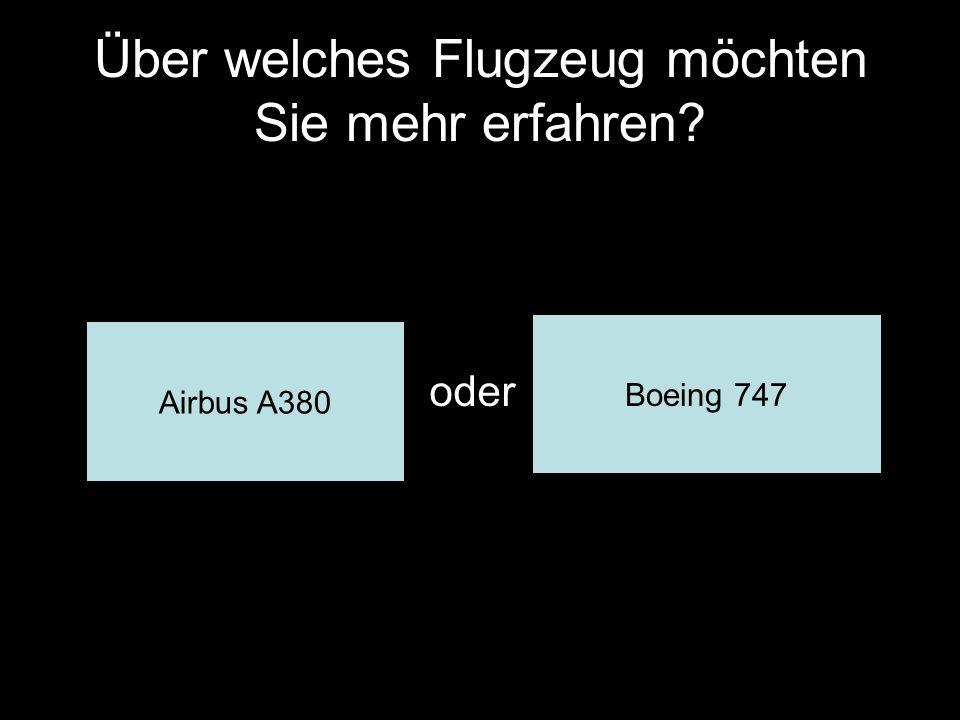 Über welches Flugzeug möchten Sie mehr erfahren