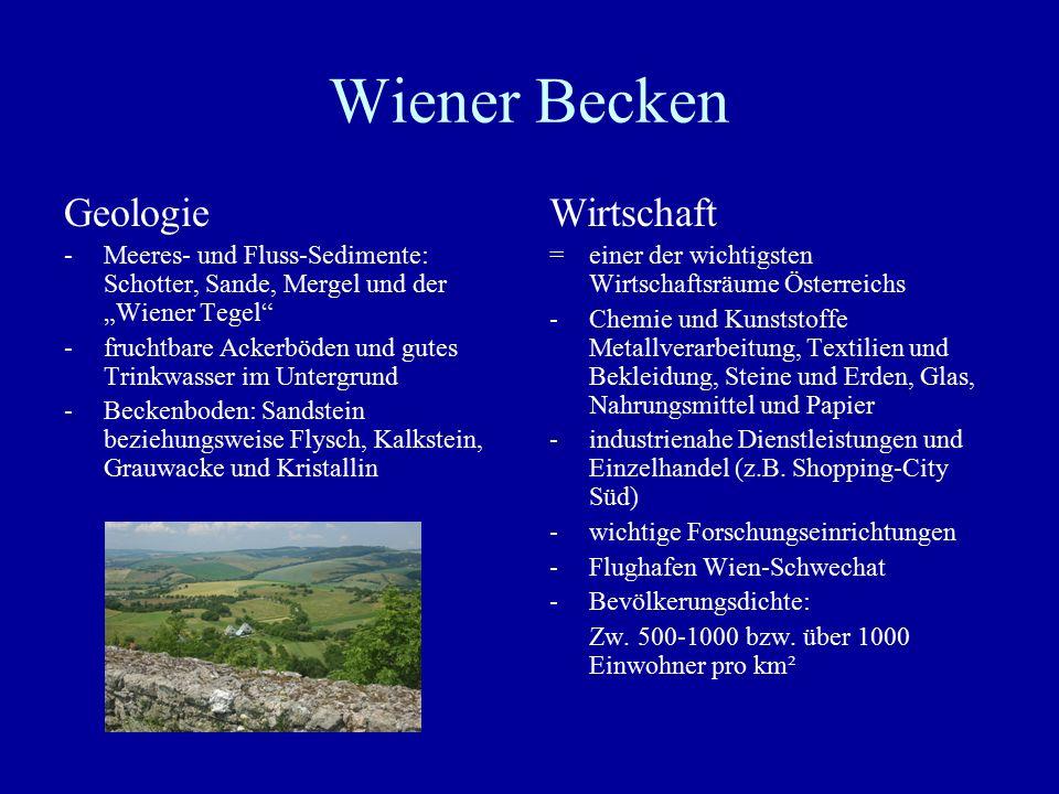 Wiener Becken Geologie Wirtschaft