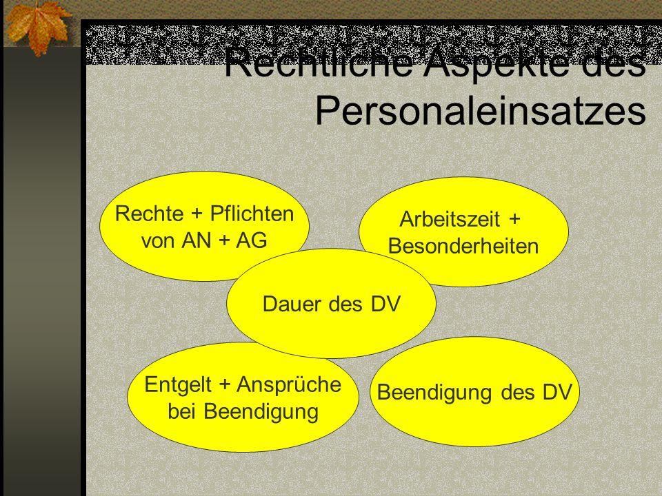 Rechtliche Aspekte des Personaleinsatzes