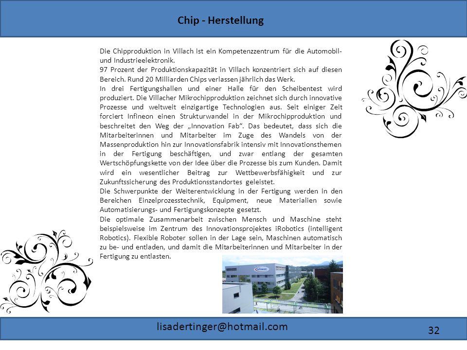 Die Chipproduktion in Villach ist ein Kompetenzzentrum für die Automobil- und Industrieelektronik.