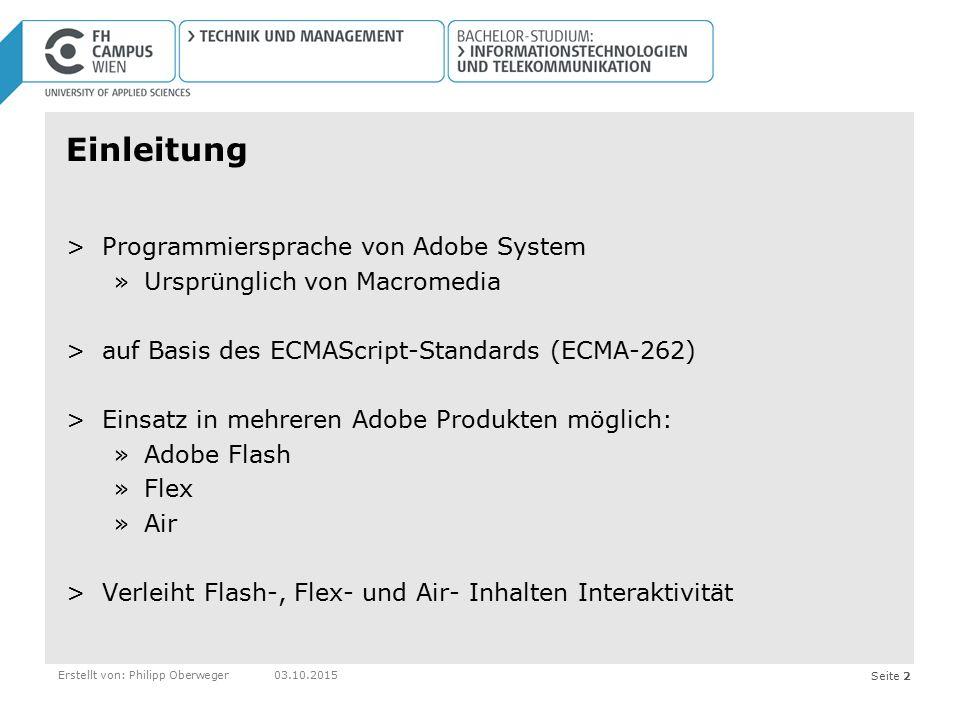 Einleitung Programmiersprache von Adobe System
