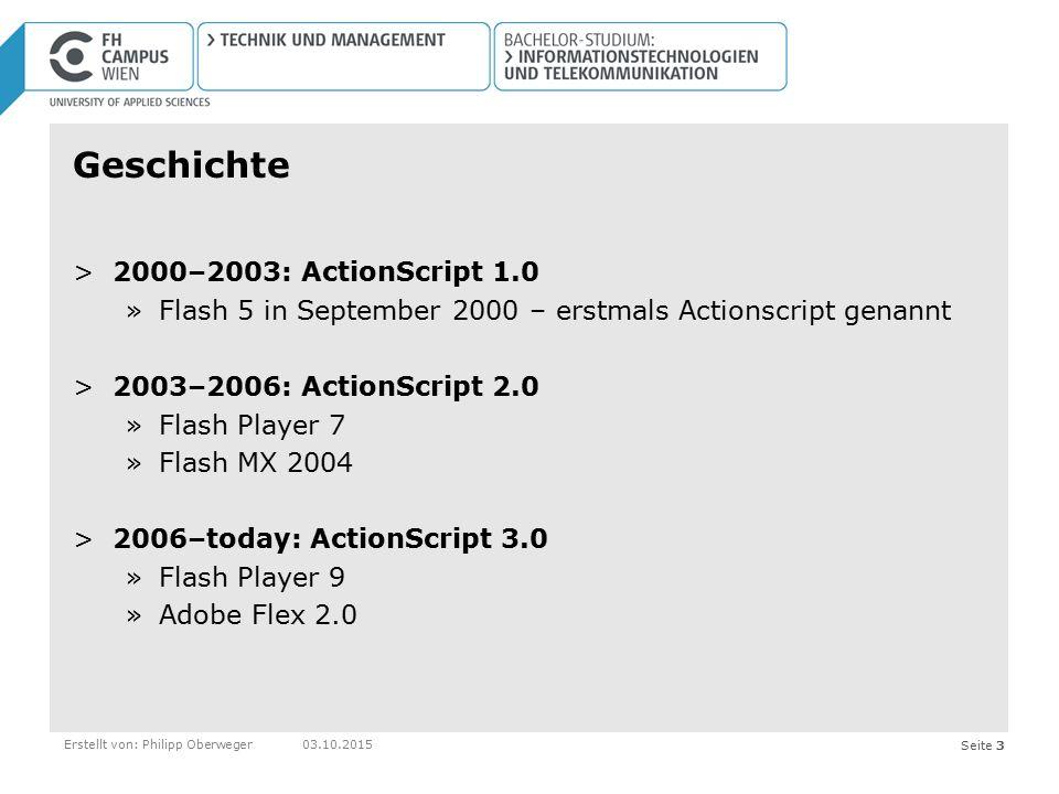 Geschichte 2000–2003: ActionScript 1.0