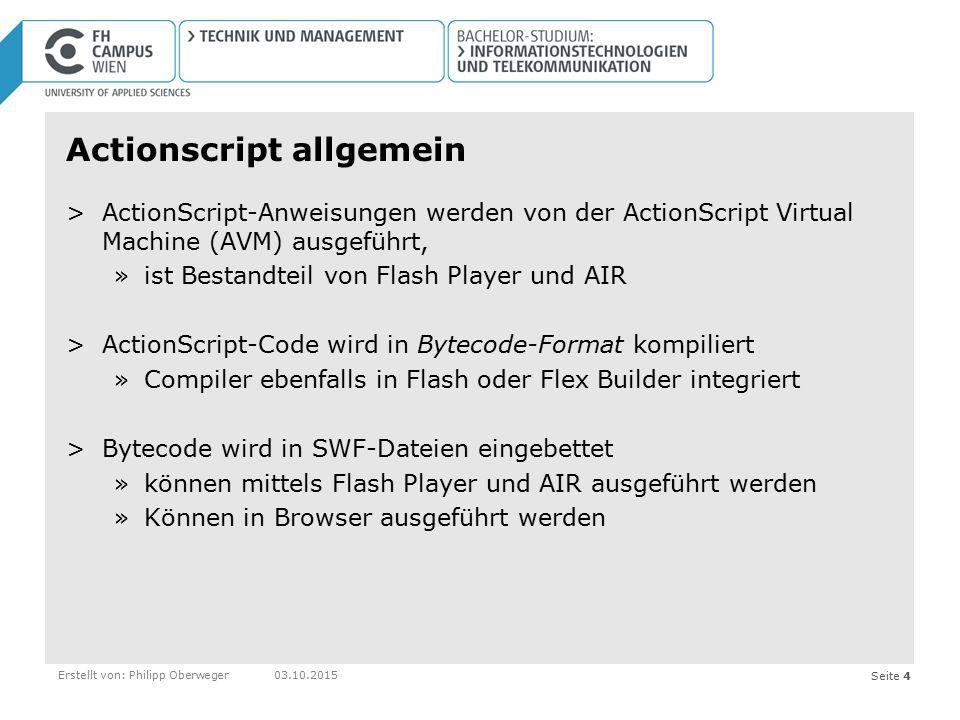 Actionscript allgemein