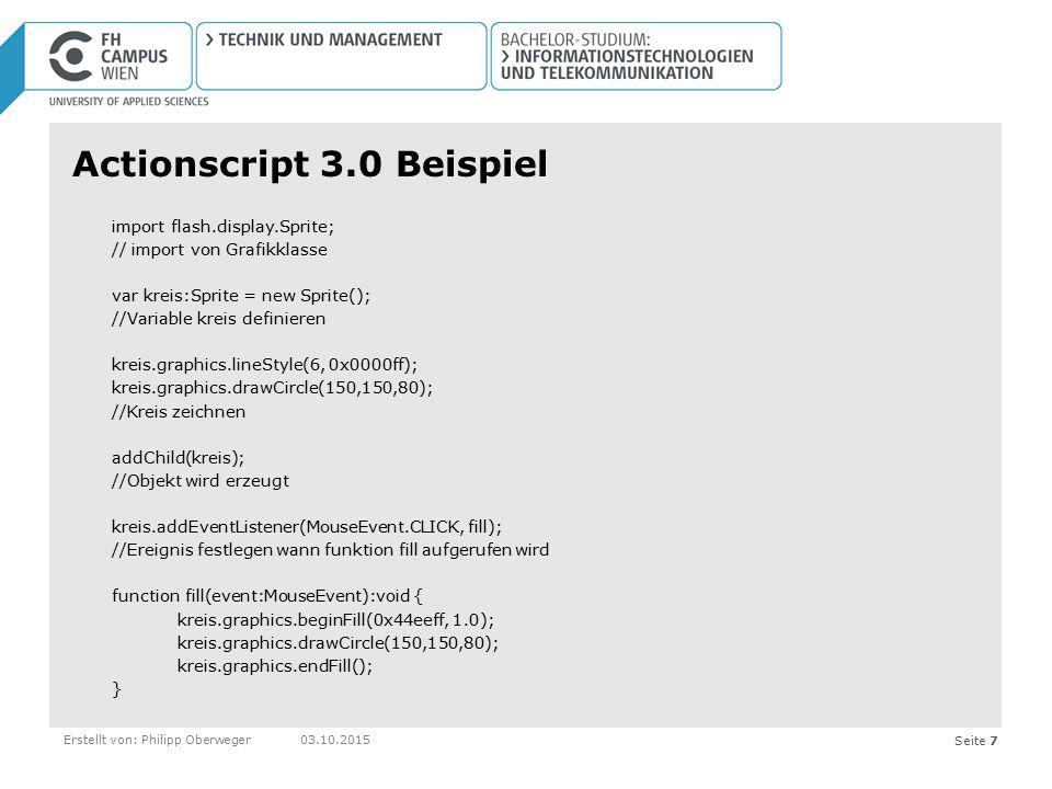 Actionscript 3.0 Beispiel