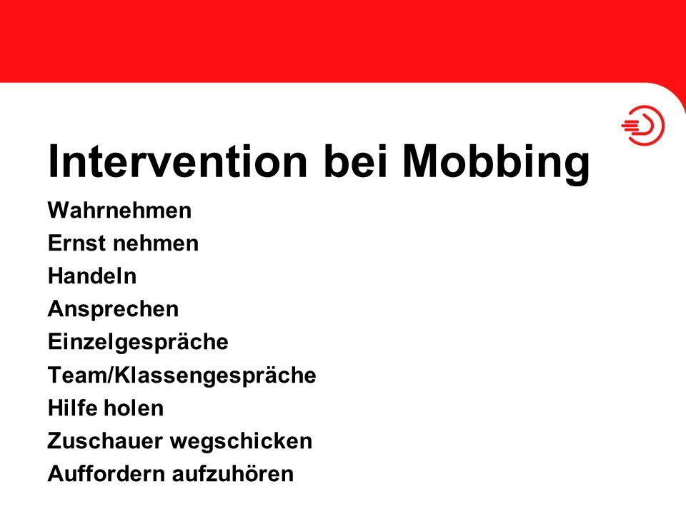 Intervention bei Mobbing