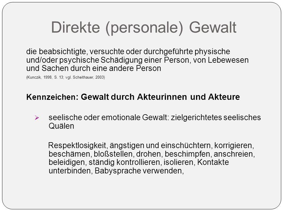 Direkte (personale) Gewalt