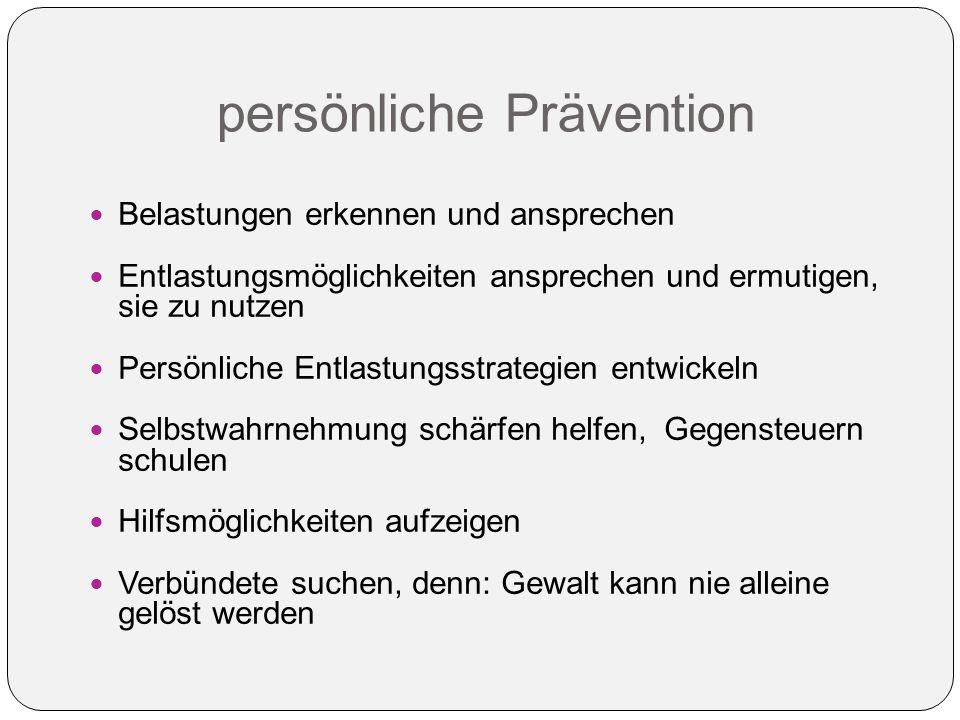 persönliche Prävention