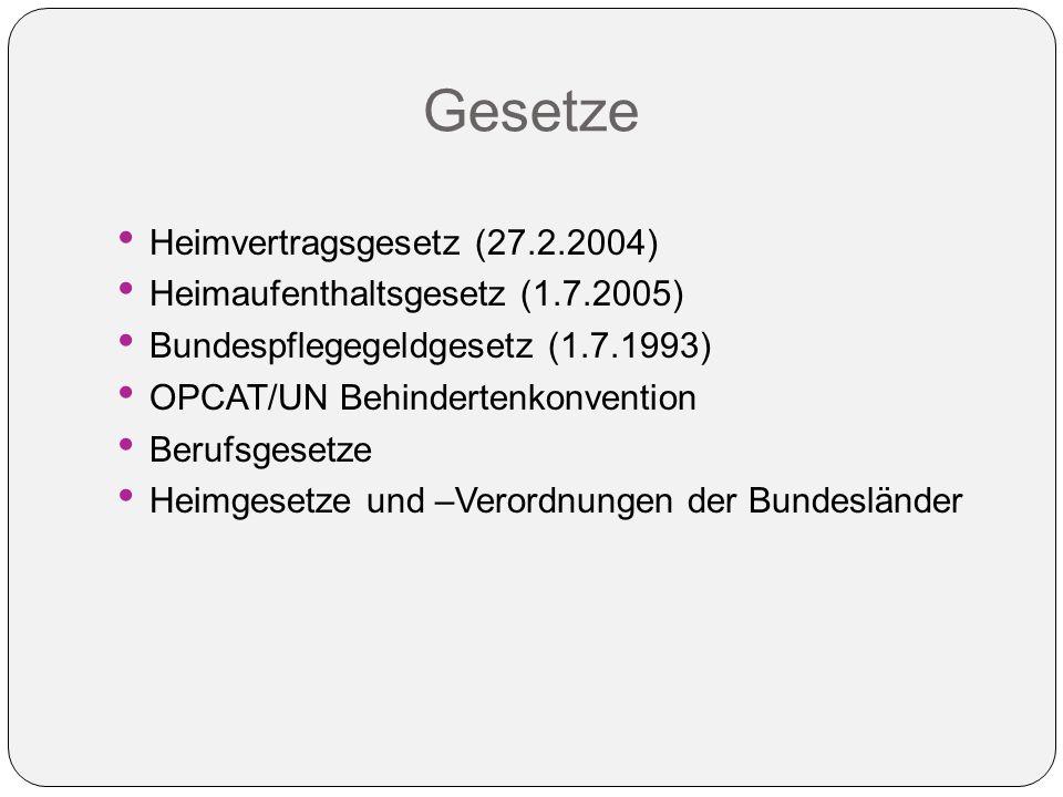 Gesetze Heimvertragsgesetz (27.2.2004)