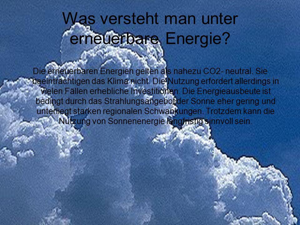 Was versteht man unter erneuerbare Energie