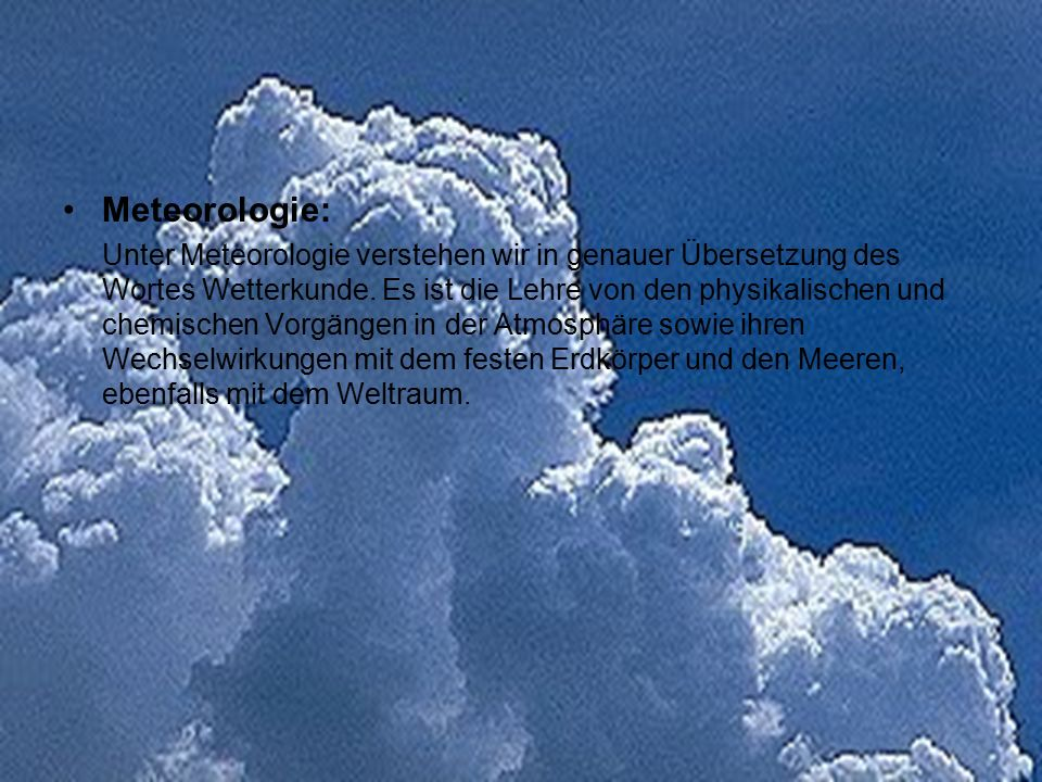 Meteorologie: