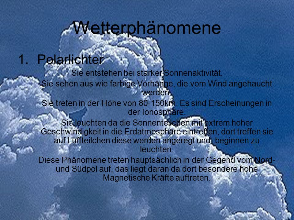 Wetterphänomene Polarlichter