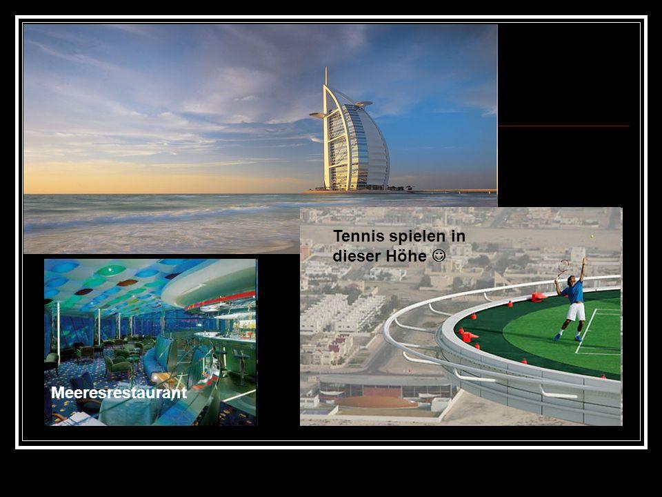 Tennis spielen in dieser Höhe 