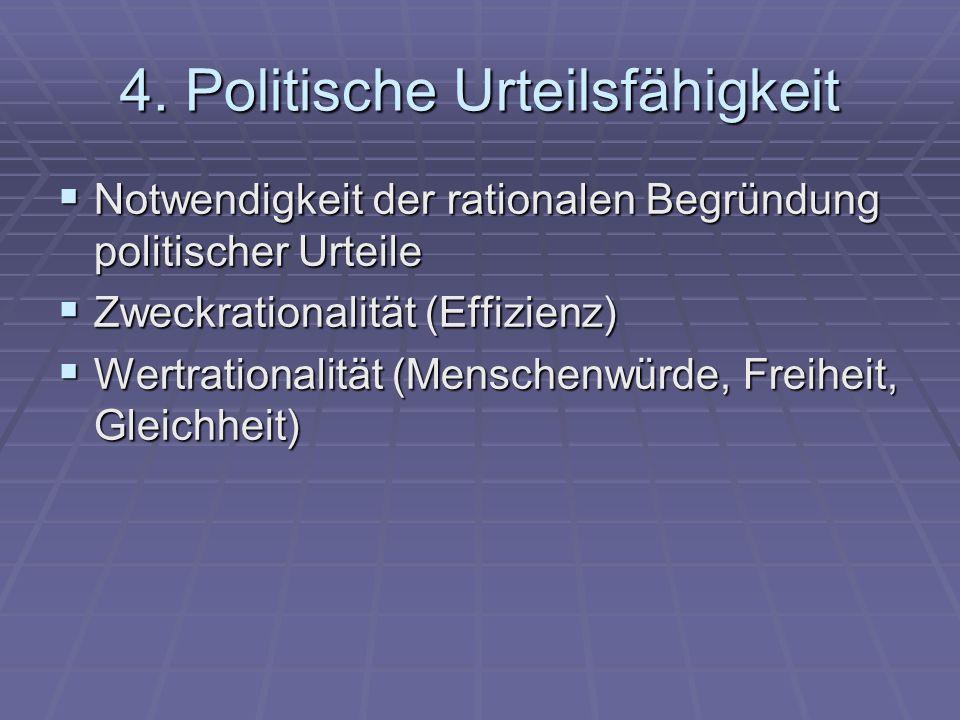 4. Politische Urteilsfähigkeit