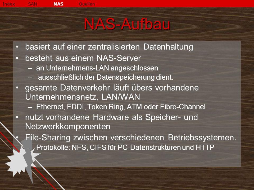 NAS-Aufbau basiert auf einer zentralisierten Datenhaltung