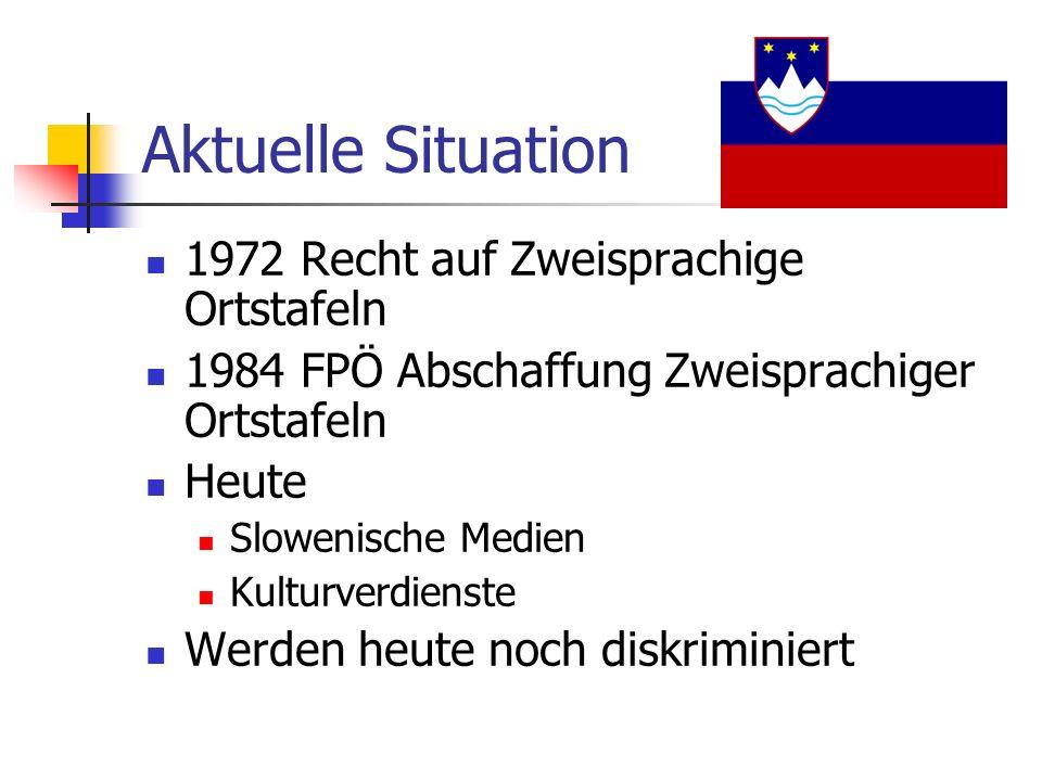 Aktuelle Situation 1972 Recht auf Zweisprachige Ortstafeln