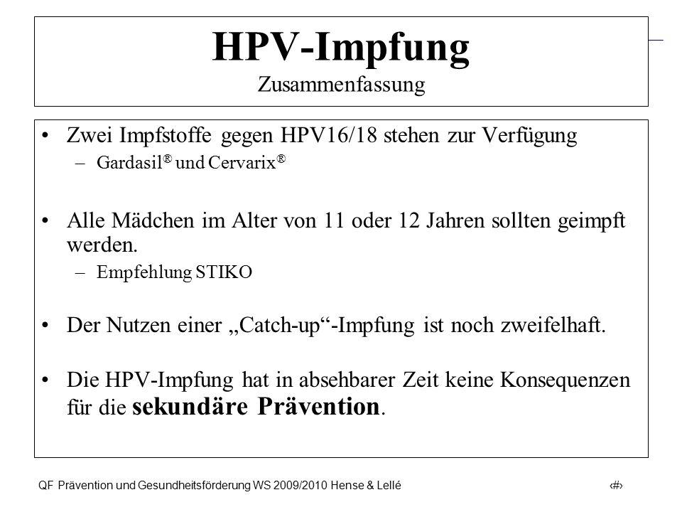 HPV-Impfung Zusammenfassung
