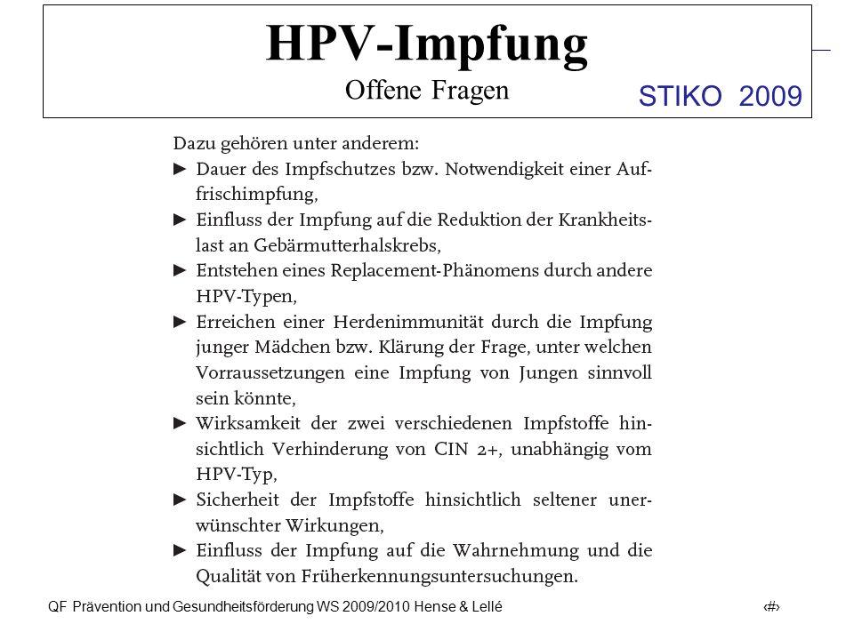 HPV-Impfung Offene Fragen
