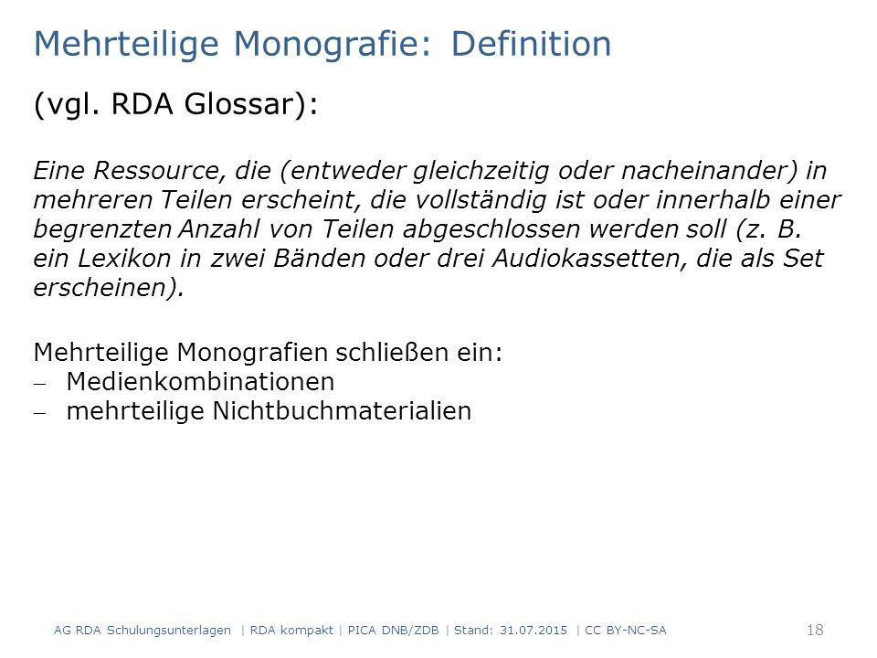 Mehrteilige Monografie: Definition