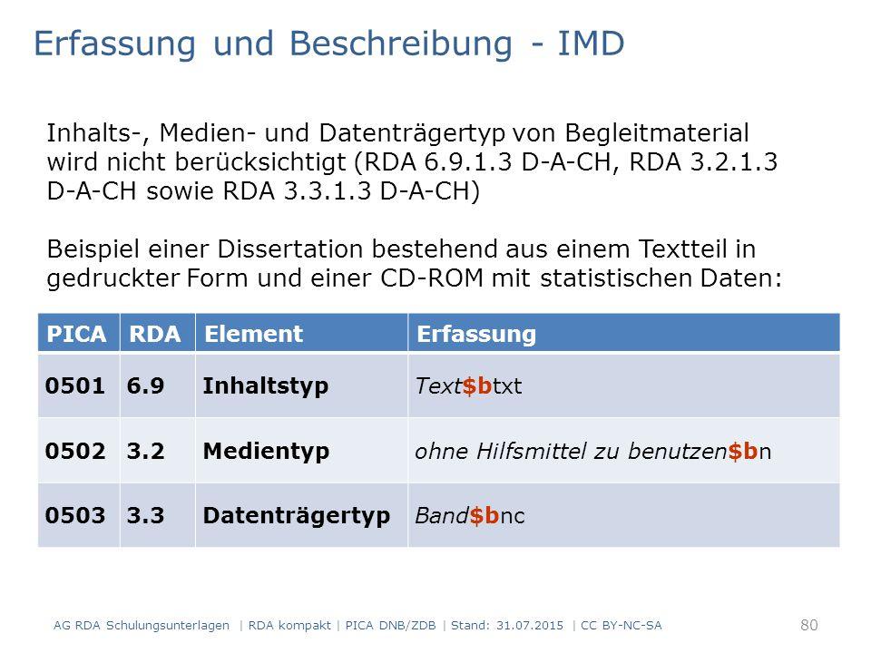 Erfassung und Beschreibung - IMD