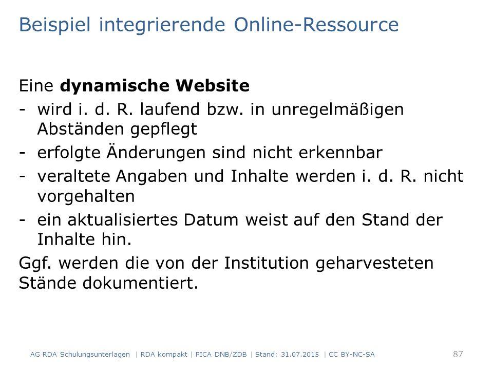 Beispiel integrierende Online-Ressource