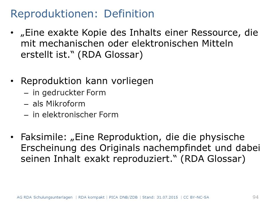 Reproduktionen: Definition