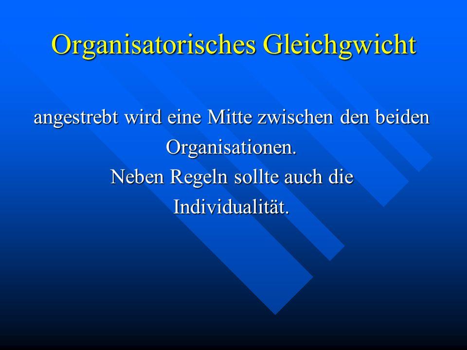 Organisatorisches Gleichgwicht