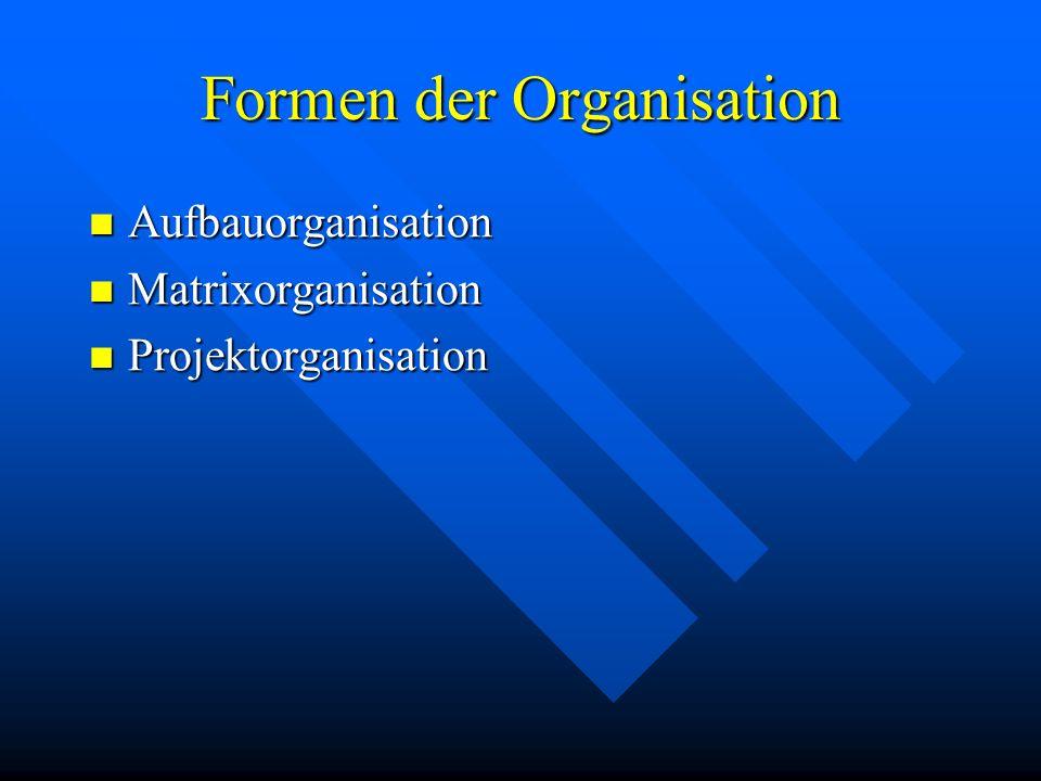 Formen der Organisation