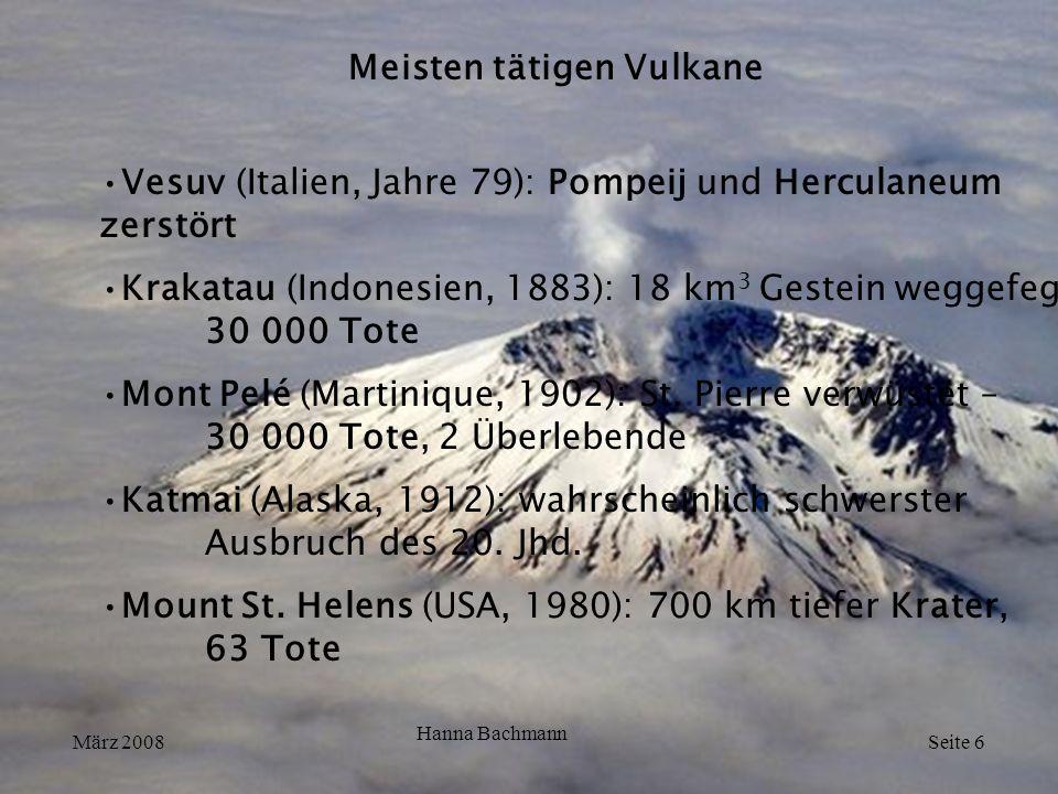 Meisten tätigen Vulkane