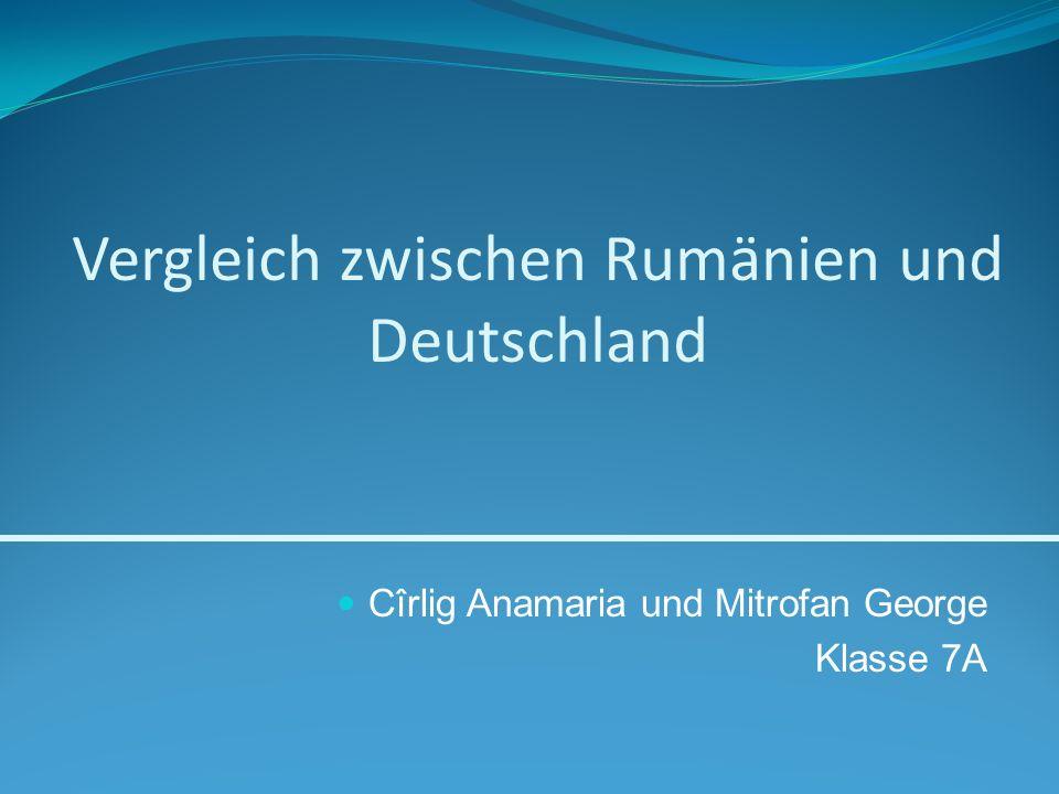 Vergleich zwischen Rumänien und Deutschland