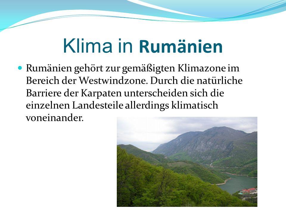 Klima in Rumänien