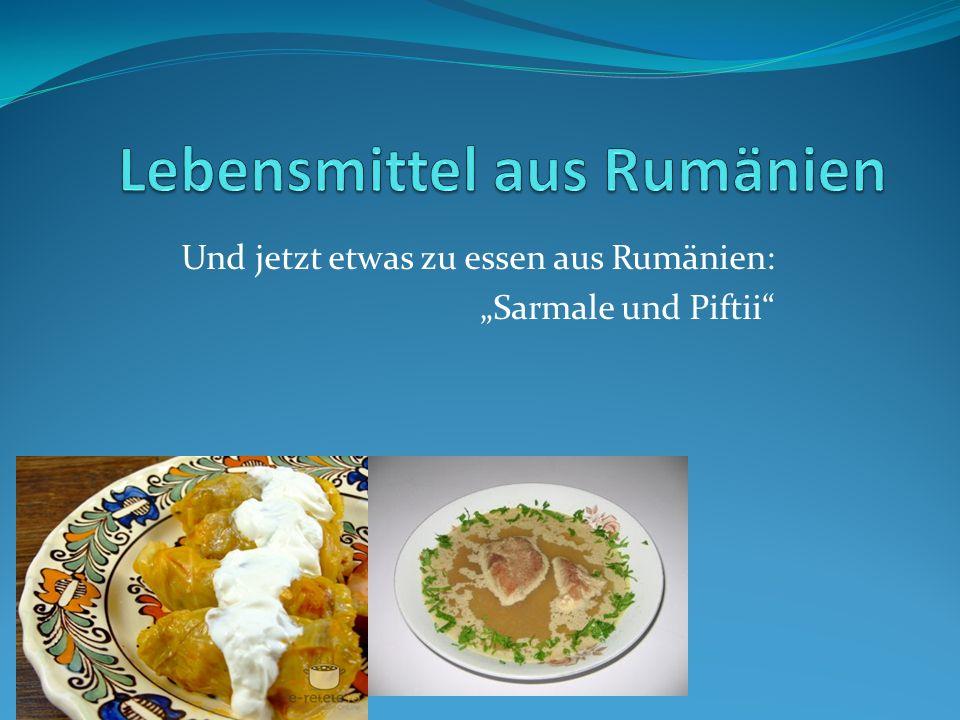 Lebensmittel aus Rumänien