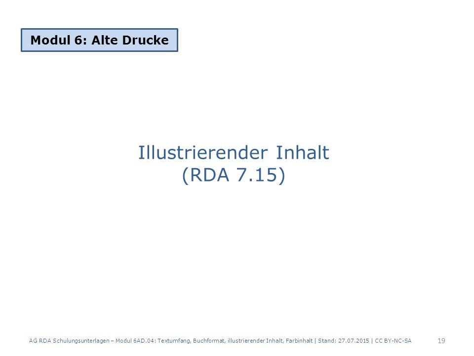 Illustrierender Inhalt (RDA 7.15)